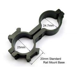 1 ring weaver picatinny 20mm rail barrel mount for scope sight Flashlight Torch