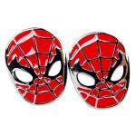 Spider-Man Cufflinks Mens Shirt High-end French Cuff links Wedding Groom Gift (red)