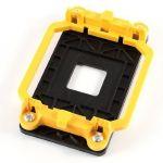 Black Yellow AMD CPU Fan Mount Bracket Holder Base for AM2 940 Socket