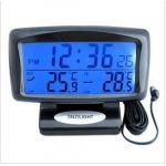 Car dual Digital Thermometer Temperature Display Alarm Clock Multi-functional
