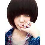 Fashion Women Cosplay Party BOBO Style Full Short Wigs Straight Full Wigs Wig Black
