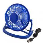 '5 Dia Blue Hard Plastic 4-blade USB Cooler Cooling Desk Mini Fan