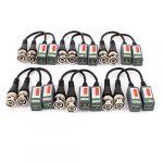 CCTV Camera BNC Video Balun Passive Cat5 UTP Coax Cable Adapter 12pcs
