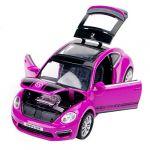HOT SELL 1:32 Purple Volkswagen Beetle GSR Alloy Car Model 4-door SUV with Light &Sound