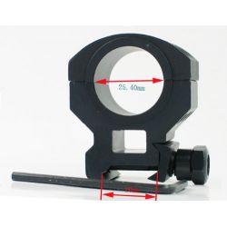 1 25.4mm/30mm Ring Six Bolts High Scope Weaver Mount 20mm rail