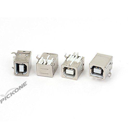 USB-B Type Right Angle PCB Socket Female Connector 4Pcs