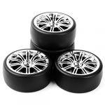 Drift Tires Wheel Rim For RC 1:10 On Road Car PP0477+3MC HIGH QUAILTY