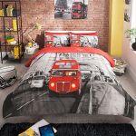 LONDON BUS BRIDGE PREMIUM DOUBLE BED DUVET QUILT COVER BEDDING SET +PILLOW CASES