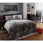London Zoom Grey King Duvet Cover & Pillowcase Set