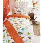 Dinosaurs & Stars Boys Double Quilt Duvet Cover & 2 x Pillowcase Bedding Bed Set
