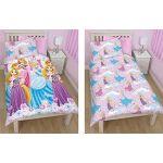 Disney Princess Reversible Flowers Duvet Single Bed Set Duvet cover and Pillow Case