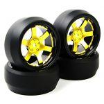 NEW RC Flat Drift Tires Wheel Rim 12mm Hex Fit HPI 1:10 On-Road Car D6NKG+PP0369