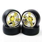 RC Drift Tires Wheel Rim 4 Pcs For HSP HPI RC 1:10 On Road Car PP0477+2FCG