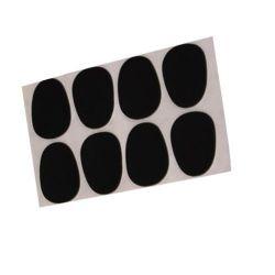 8pcs Alto Saxophone Mouthpiece Patches Pads Cushions 0.8mm Black