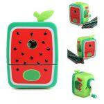 Watermelon Pencil Sharpener Hand Crank Manual Desktop School Stationery Kids
