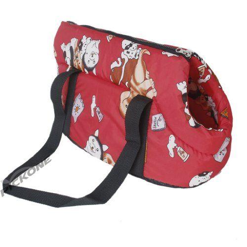 Carrier soft travel bag Shoulder Handbag for dog / cat Size Small - Red