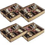 4 x 12 pair shoes storage organizer holder shoe bag box under bed closet