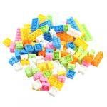 96pc Colorful Plastic Children Kid Puzzle Educational Building Blocks Bricks Building Toy