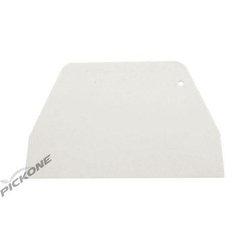 19 cm x 12.5cm Flat White Plastic Cake Decorator Dough Pastry Scraper Tool