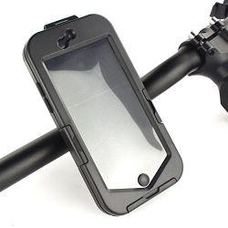 Black Waterproof Bike Bicycle Motorcycle Handlebar Mount Holder Case For iPhone 6 Plus