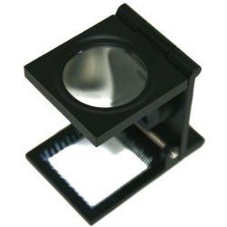 10X Matel Folding Magnifier Glass Lens with LEDs light