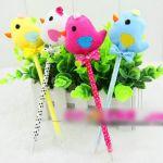 5Pcs Cute Cartoon Chick Shape Ballpoint Pen Fancy Beauty Fashion Creative Stationery(Pack of 5: random color)