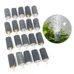 20 PCS Fish Tank Gray Air Stone Bubble Diffusers Maker 45x22mm