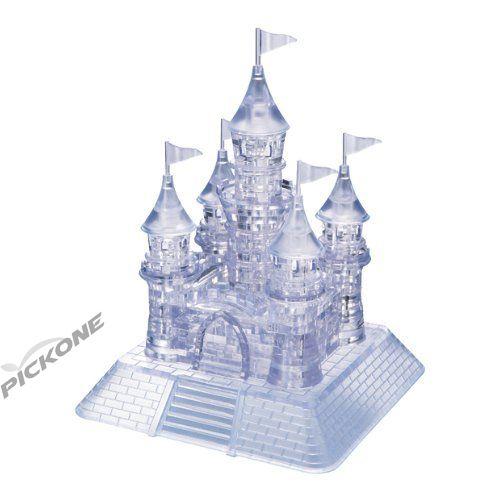 PicknBuy¨ 3D Crystal Puzzle White Transparent Castle Jigsaw Puzzle IQ Toy Model Decoration
