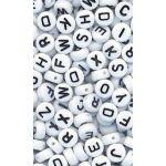 400pk White Alphabet Beads