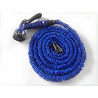 Flexible Expandable Garden Hose & Spray Gun (Blue, 50 ft)