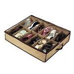 Big Bargain 12 Pairs Tidy Under Bed Fabric Shoe Storage Organizer Holder Box Closet Bag Case