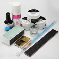 Nail Art Acrylic Powder Pen Brush File Liquid Primer Gel Buffer Forms Kits Set