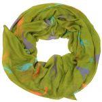 Stylish women scarf giraffe print design style (Olive green)