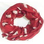 Red Sheep Print Design Ladies Scarves Shawl Wrap Maxi Scarf Sarong