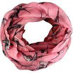 Yufashion swallow bird animal print long shawls / scarves / wraps / head scarf / pashmina-PINK