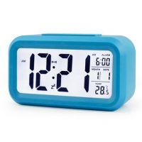 Digital LCD Snooze Alarm Clock + Sensor Light + White LED Backlight