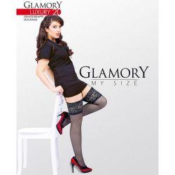 Glamory 50137 luxury 20 stockings black 4xl (8, 6'6-6'8 198-203cm, uk 34-36, eur 60-62)