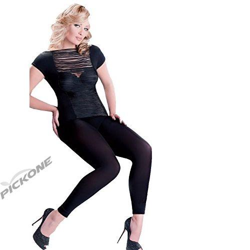 ce9f121c46 Plus Black Opaque Leggings Footless Tights Casual Work Comfortabl ...