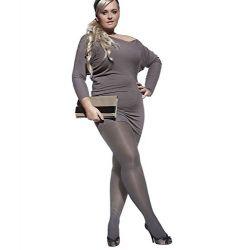PLUS SIZE Black Grey Chocolate SEMI OPAQUE TIGHTS for Curvy Women 40 DENIER with Stretchy Gusset Brown Extra Large Size XL XXL XXXL XXXXL Adrian Perla