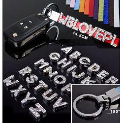 Key Chain DIY Name Strap for House / Car Key Ring